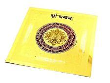 Sri Yantra Shree Yantram Chakra Healing Powerful Energized Om 24k Gold plated v2