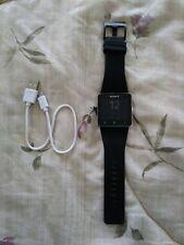 Sony SmartWatch 2 SW2 Aluminum Case Black Modern Buckle - (1271-4651)