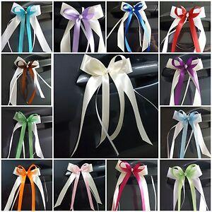 Antennenschleifen Ivory ~25 Farben~ Autoschleifen Hochzeit Spiegelschleifen