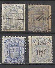 2720-SELLOS FISCALES DE 1875 IMPUESTO VENTAS CATALOGO EDIFIL Nº1,1A,1B,1C.25,00€