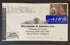 1999 Levin Manawatu New Zealand Hicksville New York Advertising Air Mail Cover