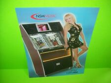 Nsm Cosmic Blast Original Nos Phonograph Music Jukebox Promo Sales Flyer Adv.