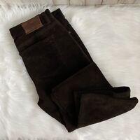 Polo Jeans Co. Ralph Lauren Pant Womens Brown Corduroy Straight Leg Pant Size 4P