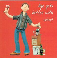 Edad mejoran con vino! tarjeta de cumpleaños de un bulto o dos Collection
