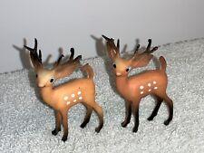 Two small Plastic Reindeer - vintage