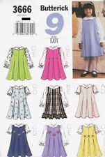 Pattern Butterick Sewing Girl Child's Jumper Dress Blouse Pattern Sz 4, 5, 6 OOP