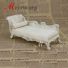 miniature furniture White couch  And pillow for Dollhouse 1/12 scale