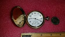 Antique Waltham Pocket Watch Gold fill  Hunter Case 1914 working and keeping tim