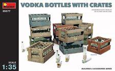 Miniart 1:35 Vodka Bottles With Crates Plastic Model Kit