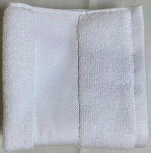NWT RALPH LAUREN WESCOTT 2 SAILCLOTH WHITE COTTON TOWELS  $34