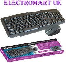 COMPUTER PC FULL SIZE WIRELESS WATERPROOF KEYBOARD AND MOUSE MULTIMEDIA KEYS