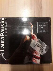 LAURA PAUSINI - LIVE IN PARIS 05 - SPEc EDT CD+DVD in omaggio cd bon Jovi nuovo