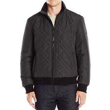 New Calvin Klein Mens Quilted Bomber Jacket Black CM608595 - Free Express Melbrn