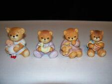 4 Lucy & Me Bears By Enesco Bear Sitting W/ Doll, W/ Duck, W/ Honey Pot & Bear