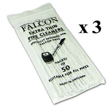 3 x FALCON INTERNATIONAL QUALITY PIPE CLEANERS PACK OF 50 (Total of 150)