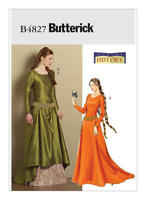 B4827 Butterick Sewing Pattern Misses Medieval Queen Princess Gown Dress Costume