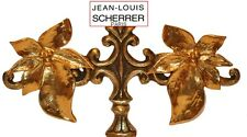 SPECTACULAR 80's COUTURE FRENCH JEAN LOUIS SCHERRER GOLD LEAF CLIP ON EARRINGS