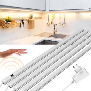 LED Under Cabinet Light Kit Closet Kitchen Lighting with Hand Sweep Sensor +Plug