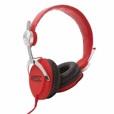 WeSC Bass DJ Unisex Headphones with Microphone - Red/Silver One Size NIB