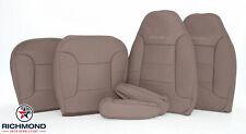 94 Bronco Eddie-Driver/Passenger Bottom LeanBack Armrest Leather Seat Covers Tan