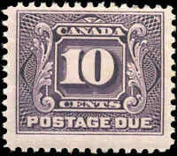 1928 Mint H Canada F+ Scott #J5 10c Postage Due Stamp