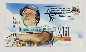 "Cal Ripken Jr ""2131 Consecutive Games"" Bevil Cachet Cover July 31,1994 #85/225"