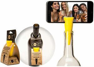 Selfie Cork Universal Bottle Stopper Monopod Handsfree for Photos Videos, Yellow