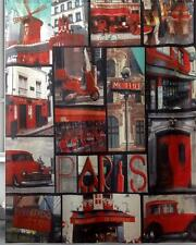 París escena restaurante coches ciclomotor rojo baño ducha cortina poliester