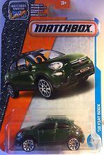 Matchbox Green 2016 Fiat 500X Diecast metal car toy scale 1/64 Mattel ages 3+.
