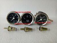 "Smiths Replica 52 mm 2 1/16"" Gauges Kit - Water Temp + Oil + Fuel Gauge"