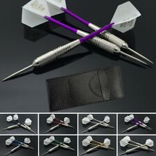 New listing Darts 3pcs/set Tungsten Steel Tip+Shaft+Flight+leather case New High Quality