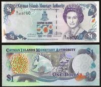 CAYMAN ISLANDS 1 Dollar Commemorative Issue 2003 P-30 QE II UNC