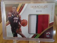 2016-17 PANINI IMMACULATE NORRIS COLE 3 COLOR JERSEY CARD /15 HEAT !