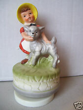 Girl With Baby Sheep Lamb Music Box - Kmart Special
