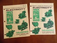 1970 MURPAC Electric Generating Plant Generator Catalog Brochure Burlington WI