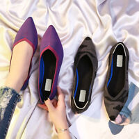 Pointed Toe Flats Shoes Breathable Anti-slip Fashion Party Shoes for Women Lady