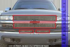 GTG 1999 - 2002 Chevy Silverado 1500 4PC Polished Combo Billet Grille Insert Kit