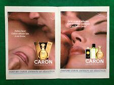 (PCA82) Pubblicità Advertising Ads Werbung CARON  PARFUM SACRE + NOCTURNES