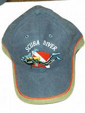 Scuba Diving Dive Hat Swimming Diver Flag Blue Ap21 New