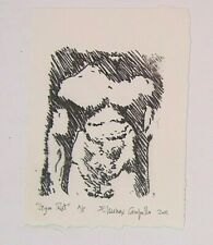 Gym Rat - Super cut male signed litho by Who's Who In American Art listed artist