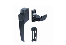 Push Button Door Handle Screen Storm Night Lock Lever Latch Set Metal Door New