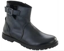 BIRKENSTOCK SHOES STOWE BLACK WOMAN BOOTS WOMEN'S NATURAL LEATHER ANKLE BOOT