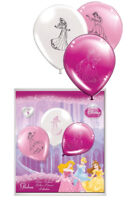 8 Disney Princess Balloons - Helium/Air Quality Colour Birthday Party Balloons