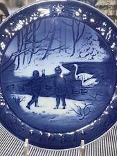 Royal Copenhagen Christmas Plate 1987 Vinterfugle Winterbirds Mint Condition