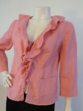 ANTHEA CRAWFORD Linen Jacket 3/4 Sleeve Apricot Size 10