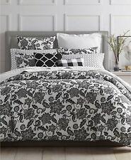 Charter Club Damask Designs Black Floral 2-Pc. Twin Comforter Set