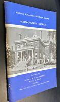 Historic American Buildings Survey - Massachusetts Catalog PB 1964