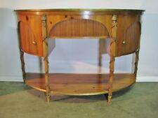 Baker Furniture Historic Charleston Collection Pine Demi Lune Buffet; Oversized