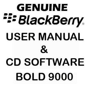 Original Genuine Blackberry Bold 9000 User Manual & CD software Tools NEW