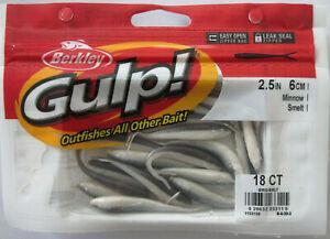 """BERKLEY GULP!  2-1/2"""" Minnow (18/Ct Pack) - Smelt"""